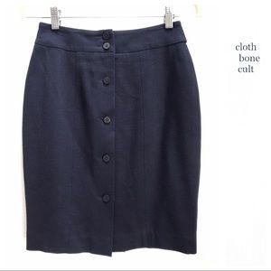 I. MAGNIN 🗝Classic🗝 Navy Wool Career SKIRT